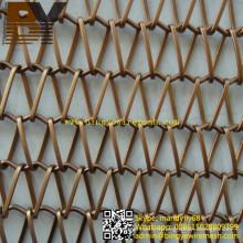 Partition architecturale décorative de rideau en maille ou écran diviseur