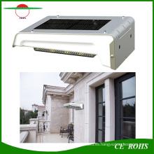 Recargable 16LED Solar Powered Montado en la pared Sensor PIR Sensor Solar Jardín Lámpara exterior IP65 con batería reemplazable