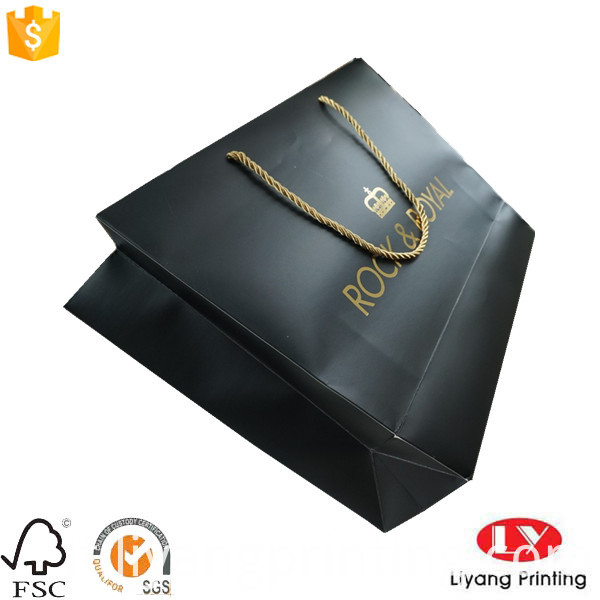 gold blocking paper bag