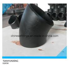 Coude sans couture à rayon long de l'acier au carbone à 45 degrés