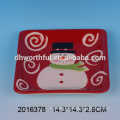Excelentes utensilios de cocina de Navidad, placa de santa de cerámica al por mayor
