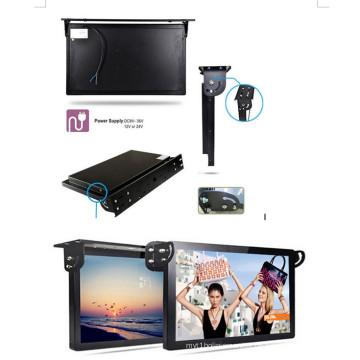 17 Zoll-Bus-digitale Beschilderung, Touch Screen Bus-Kopfstütze LCD-Digital-Beschilderung