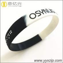 gradient mixed color silicone bracelet for event