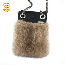 European America Style Ladies Luxury Evening Fur Bags Cell Phone Bag