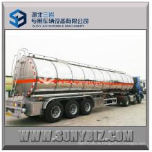 45 M3 3 Achsen Glänzender Aluminiumlegierung Kraftstofftank Anhänger