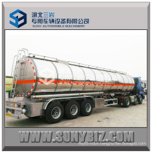 45 M3 3 Axles Shiny Aluminum Alloy Fuel Tank Trailer