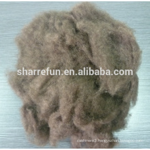 wholesale China Tibet dehaired Yak Wool Dark Brown 19.0mic/26mm