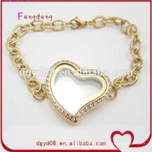 Moda venda quente 24k pulseira de ouro jóias de aço inoxidável