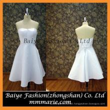 Vestidos de cetim, Vestido de estilo novo 2016, Vestido de noiva sem alças A Line Vestido de cetim curto