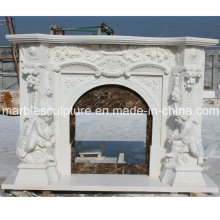 Natural China Marble Fireplace (SY-MF041)