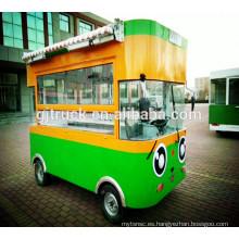 precio barato mini coche de comida / calle comida vending pannier / móvil comida rápida hamburguesa al aire libre / café van para la venta