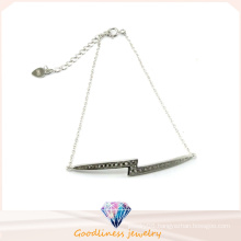 Factory Sale Nice Color Trendy Jewelry Shining Stone Silver Bracelet (Bt6572)