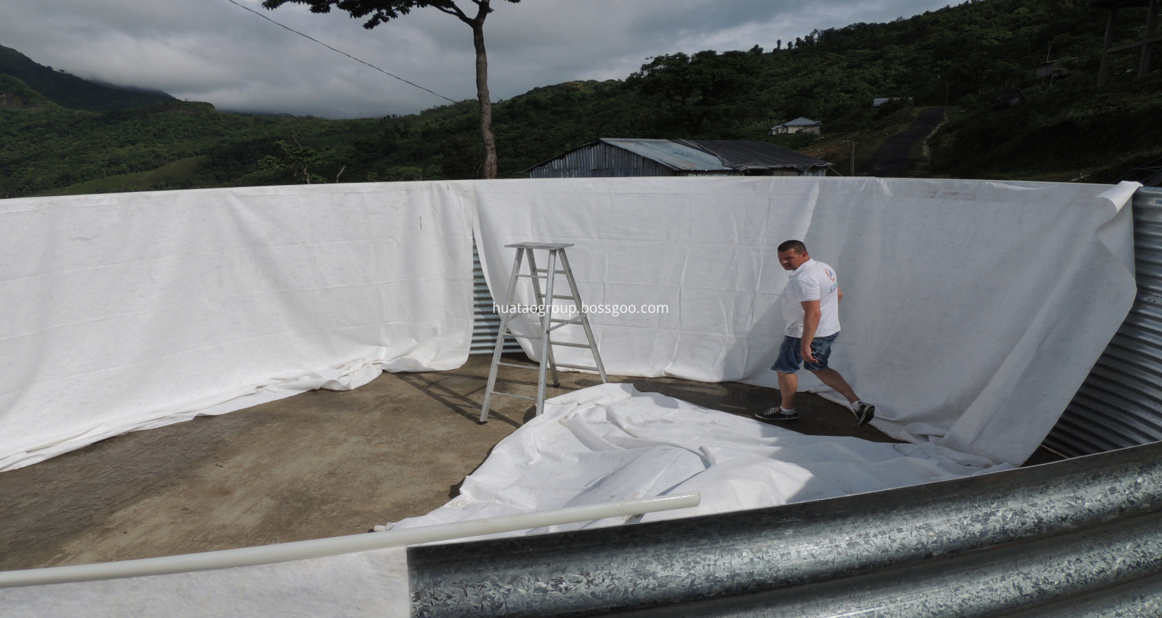 using geotextile