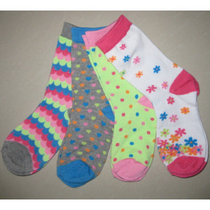 Girls Polyester Socks Fancy Crew Socks