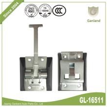 Dispositif de retenue de porte en acier à ressort avec plaque en plastique