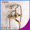 Fyeer Antique Bronze Telefon Bad Dusche Mixer Wasserhahn für an der Wand montiert