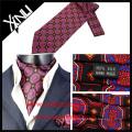 Mens Fashion Paisley High Quality Silk Screen Print Cravat Tie Ascot