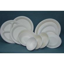 Биологически разлагаемая бумага Целлюлозная посуда Сахарный тростник Одноразовая тарелка Bowle Clamshell