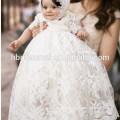 Baby gewachsen Taufe Kleidung bestickt lange Spitze Infant Baby Taufe Kleid