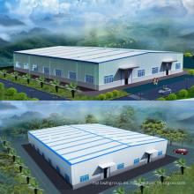 Edificio de taller de almacén de estructura de acero prefabricado
