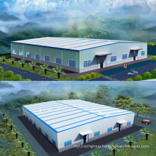 Painted Structure Steel Light Prefabricated Workshop Building