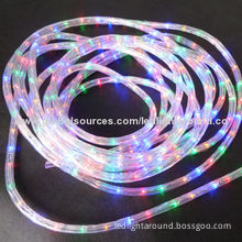 UL RGB 4-wire LED Rope Lights, 24V with Remote, 10 Kinds of Vision Function for Indoor/Outdoor Use