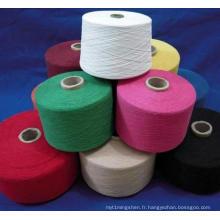 Fil de coton de polyester 65/35, fil mélangé par polyester coloré de coton