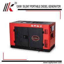 С воздушным охлаждением 4-х тактный двух цилиндровый 15kva 3 фазы Электрический портативный Китай дизельный генератор Цена