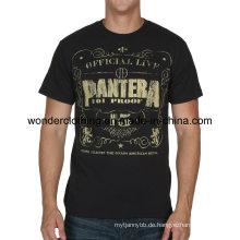 Das Sommer-T-Shirt der Qualitäts-kundenspezifischen Baumwollmode-Druckmänner