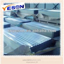 Folha de telhado ondulado galvanizado / folha de telhado de zinco price alibaba china