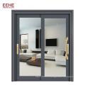 Porte en verre coulissante en aluminium enduit de poudre de 96 x 80 pour chambre à coucher