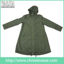 Yj-6204 Exército Verde Impermeável Raincoat Chuva Engrenagem para Homens Mulheres