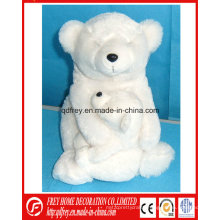 Plush Polar Bear Mummy and Baby Toy with CE Certification