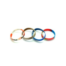 Promotional Camouflage Printed Silicone Wristbands