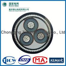 Заводской оптовый кабель питания постоянного тока 15кВ 3х240мм