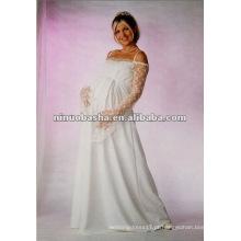 Vestido de noiva impermeável de manga longa
