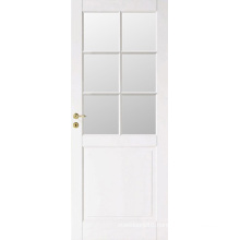 Hot Sale White Half French Wooden Door Design