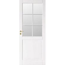 Projeto de porta de madeira francês meio branco venda quente
