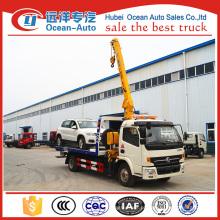 Dongfeng 4ton caminhão novo das camas do wrecker à venda