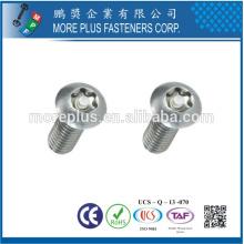 Taiwan ISO7380 Low Carbon Stahl Knopf Kopf Edelstahl M6 Sechskant Sechskant Schraube