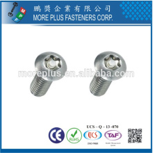 Taiwán ISO7380 de acero de bajo carbono Botón de cabeza de acero inoxidable M6 Hexágono hexagonal tornillo