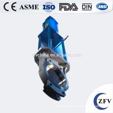 Fábrica precio de acero inoxidable tipo neumático válvula de guillotina