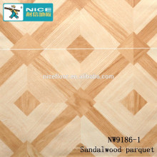 HDF BOARD SANDALWOOD COLOR CHEAP PARQUET FLOOR