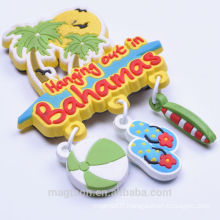 2015 most popular summer theme tourist souvenir 3D soft PVC magnets
