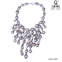 Collar de perlas pesadas chispa rara perla