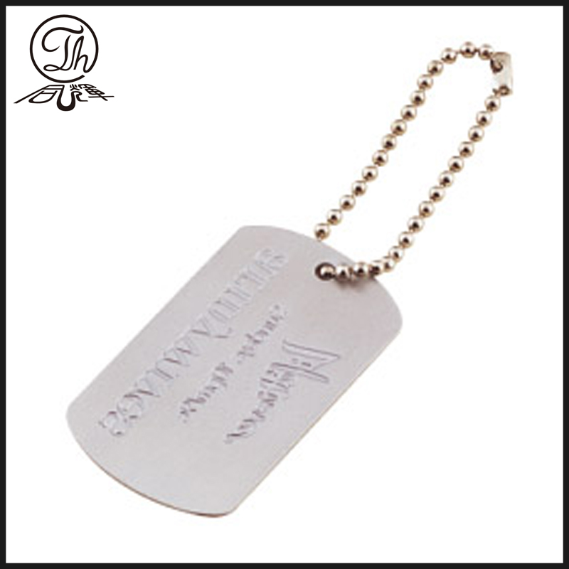 Personalized military id dog tags