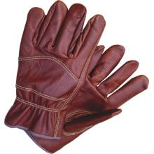 Gants de couleur foncée Pleins gants de travail en cuir à oreilles Wing Driver 4009