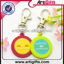 Beautiful PVC Tolley coin keychains
