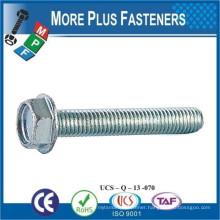 Made in Taiwan DIN 7500 D Stainless Steel Thread Rolling Screw Zinc Steel Hexagon Head