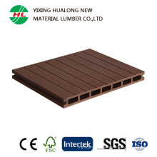 Wood Plastic Composite Hollow WPC Decking Board (M165)